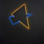 dessin triangles bleu orange chicoutimi